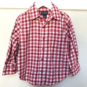 Boys Plaid Button Down Shirt